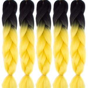5 packs of Black yellow ombré braiding hair *NWT*